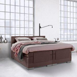 Beddenleeuw Boxspring Bed Julia - Elektrisch - 140x200 - Incl. Hoofdbord - Bruin