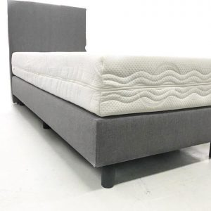 90x210 Boxspring 1 persoons Grijs