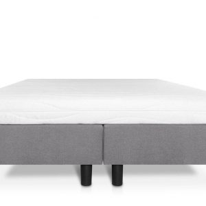 Boxspring Student Basic Lichtgrijs - 120x200 cm - Comfort Foam Matras
