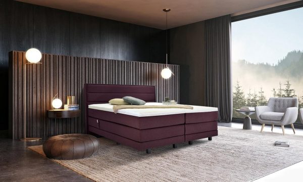 Boxspring suite Vlak 200x210 purple