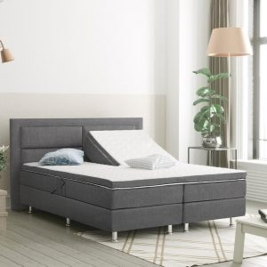 Complete Boxspring 180x200 cm - Beige - Pocketvering matrassen - Dreamhouse Alaska - Twee persoons bed