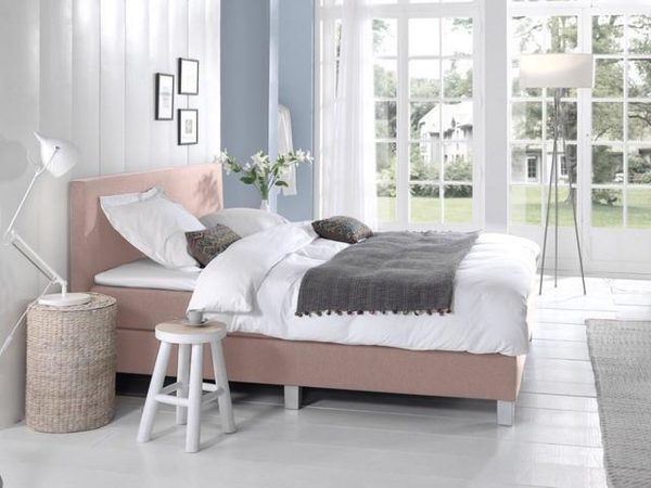 Complete Boxspring 180x210 cm - Roze - Pocketvering matrassen - Dreamhouse Louis - Twee persoons