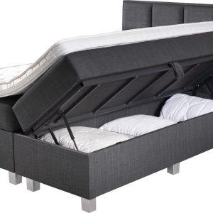 Complete Opbergboxspring 180x200 cm - Pocketvering matrassen - Dreamhouse Hamar - Tweepersoons bed met opbergruimte