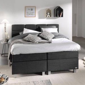 DreamHouse Bedding Boxspringset - Gustavo Comfort 160 x 200 cm, Topperkeuze: Standaard Comfort Topper, Montage: Inclusief Montage