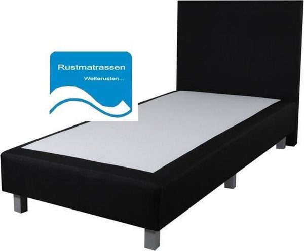 Losse Boxspring Zonder Matras - 70x200 cm - Zwart