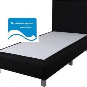 Losse Boxspring Zonder Matras - 90x210 cm - Zwart