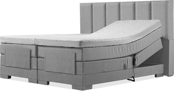 Luxe Boxspring 180x210 Elektrische Grijs Suite