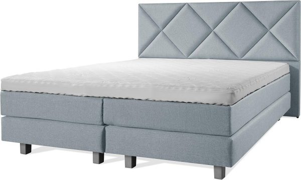 Luxe Boxspring 200x210 Compleet Blauw