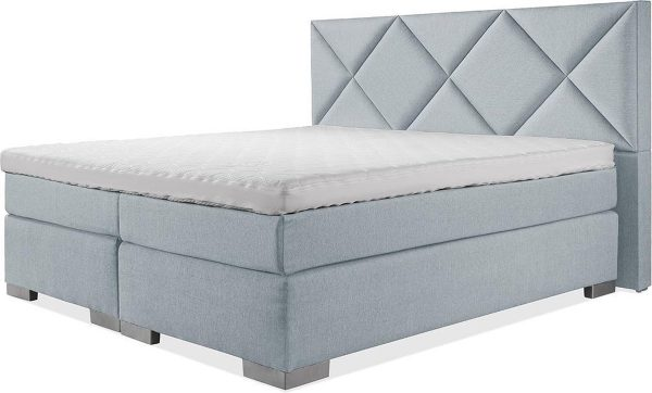 Luxe Boxspring 200x210 Compleet Blauw Suite