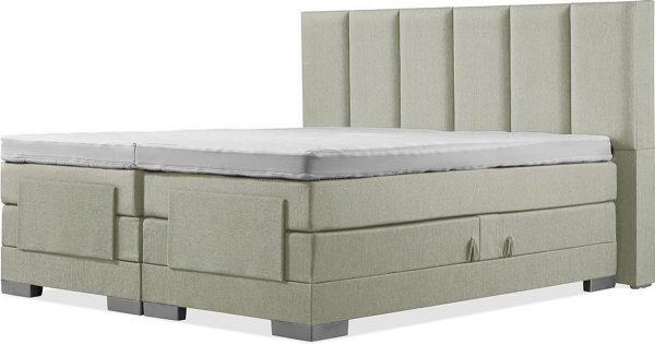 Luxe Boxspring 200x210 Elektrische Groen Suite