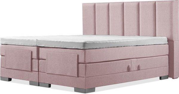 Luxe Boxspring 200x210 Elektrische Oudroze Suite