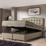 Opbergboxspring Marrakech 160 x 200 cm, Kleur: Taupe, Topperkeuze: Geen Topper, Montage: Inclusief Montage