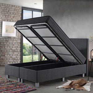 Primaviera Deluxe Opbergboxspring Space 160 x 200 cm, Topperkeuze: Upgrade: Luxe Traagschuim Topper (+€200), Montage: Exclusief Montage
