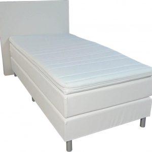 Slaaploods.nl Anda - Boxspring inclusief matras - 80x220 cm - Kunstleer - Wit