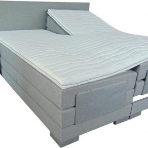 Slaaploods.nl Cool - Elektrische Boxspring inclusief matras - 90x210 cm - Grijs