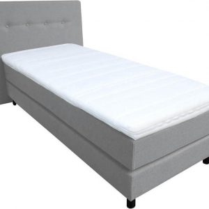 Slaaploods.nl Dana - Boxspring inclusief matras - 90x210 cm - Grijs