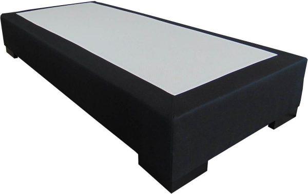 Slaaploods.nl Deluxe - Boxspring exclusief matras - 70x210 cm - Zwart