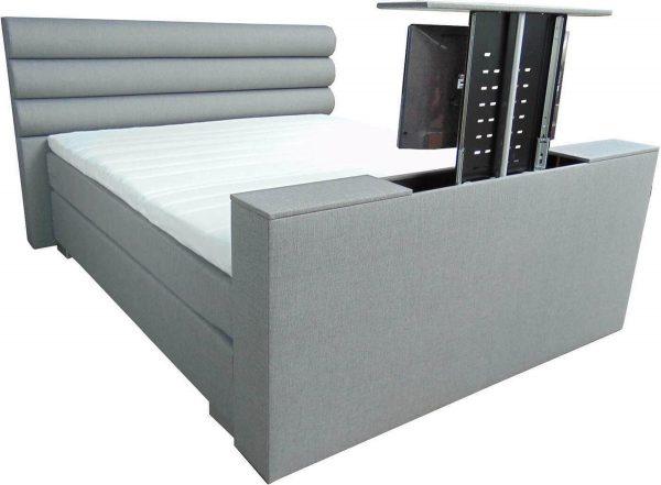 Slaaploods.nl Romance Plus - Complete Boxspring met TV Lift - t/m 43 inch - 200x210 cm - Grijs