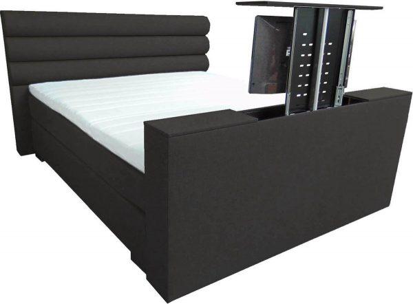 Slaaploods.nl Romance Plus - Complete Boxspring met TV Lift - t/m 43 inch - 200x210 cm - Zwart