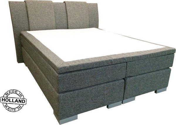 Slaaploods.nl Zeus - Boxspring inclusief matras - 180x210 cm - Grijs