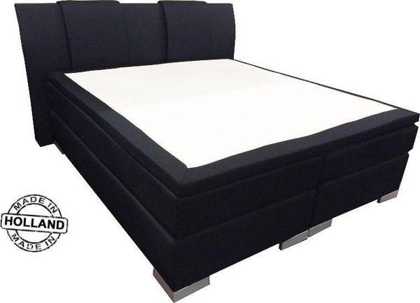 Slaaploods.nl Zeus - Boxspring inclusief matras - 180x210 cm - Zwart