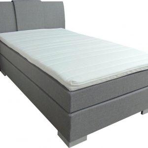 Slaaploods.nl Zeus - Boxspring inclusief matras - 80x210 cm - Grijs
