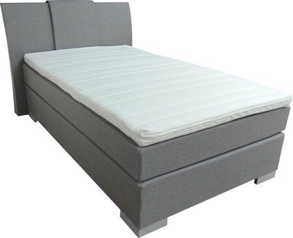 Slaaploods.nl Zeus - Boxspring inclusief matras - 80x220 cm - Grijs