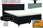 Boxspring Actie 160x200 MET GRATIS TV SMART 32 inch