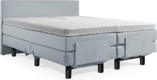 Boxspring Elektrische 160x220 Compleet Blauw