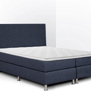 Boxspring Flanny compleet, merk Olympic Life®, 140 x 210 cm, blauw, 18-delig