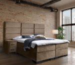 Boxspring Marseille - Inclusief 9 comfortzones pocketveringmatras en koudschuimtopper - Taupe Velvet - 160x220 cm