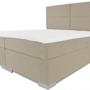 Boxspring Rome - Vaste luxe box - Pocketvering matras + Topper - 160 x 220 - 4 vakken - Beige - L poten