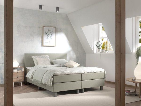 Boxspring inclusief Topdekmatras - Groen - 140x220 - Tweepersoons Bed