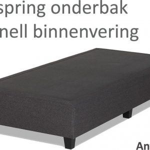 Boxspringonderbak Bonnell binnenvering, 80 x 200, Antraciet | Losse boxspring | Boxspring bedbodem | Boxspring onderstel | Bonnellboxspring | Springbox | Boxspring zonder matras