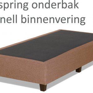 Boxspringonderbak Bonnell binnenvering, 80 x 200, Taupe | Losse boxspring | Boxspring bedbodem | Boxspring onderstel | Bonnellboxspring | Springbox | Boxspring zonder matras