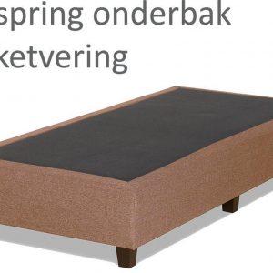 Boxspringonderbak Pocketvering, 80 x 200, Taupe | Losse boxspring | Boxspring bedbodem | Boxspring onderstel | Pocketboxspring | Boxspring zonder matras