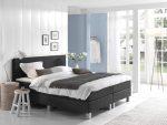 Complete Boxspring 120x220 cm - Kunstleer Zwart - Pocketvering matrassen - Dreamhouse Louis - Twijfelaar