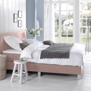Complete Boxspring 140x220 cm - bed - Roze - Pocketvering matrassen - Dreamhouse Louis - - Twijfelaar