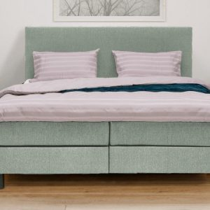 Complete Boxspring Atlas - Groen - 200 x 200 King Size - Inclusief HR Topper