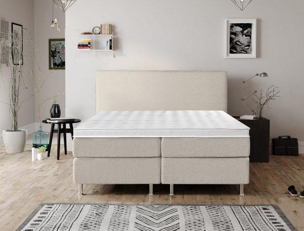 Complete Luxe Boxspring - Bazel - Dreamhouse - 140x200 - Beige - Twijfelaar - Bed