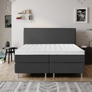 Complete Luxe Boxspring - Bazel - Dreamhouse - 160x200 - Antraciet - Twee persoons - Bed