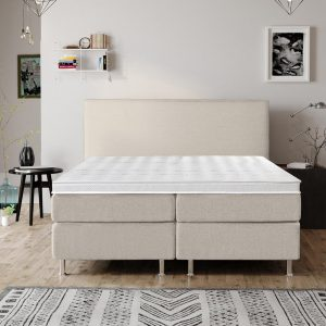 Complete Luxe Boxspring - Bazel - Dreamhouse - 160x200 - Beige - Twee persoons - Bed