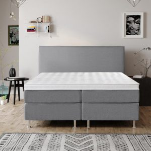 Complete Luxe Boxspring - Bazel - Dreamhouse - 160x200 - Grijs - Twee persoons - Bed