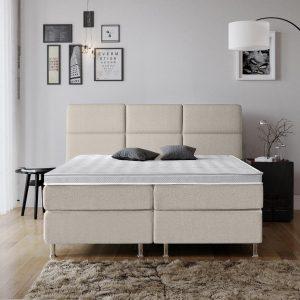 Complete Luxe Boxspring - Geneve - Dreamhouse - 140x200 - Beige - Twijfelaar - Bed