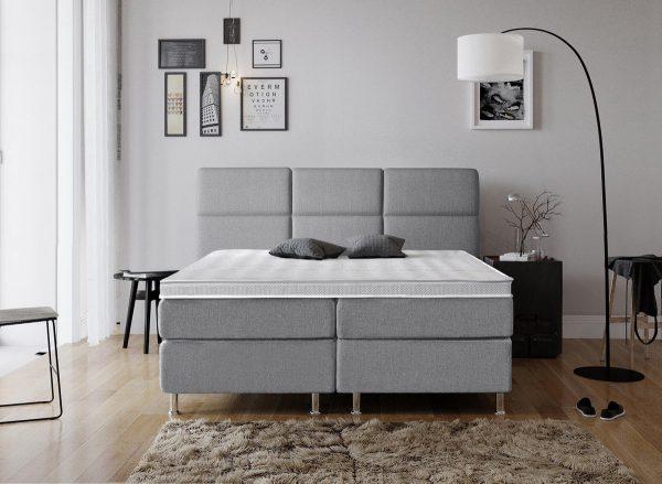 Complete Luxe Boxspring - Geneve - Dreamhouse - 140x200 - Grijs - Twijfelaar - Bed