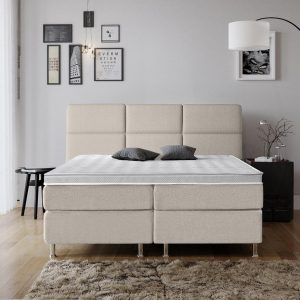 Complete Luxe Boxspring - Geneve - Dreamhouse - 160x200 - Beige - Twee persoons - Bed