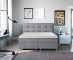 Complete Luxe Boxspring - Lugano - Dreamhouse - 140x200 - Grijs - Twijfelaar - Bed