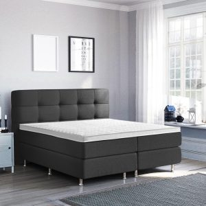 Complete Luxe Boxspring - Lugano - Dreamhouse - 160x200 - Antraciet - Twee persoons - Bed