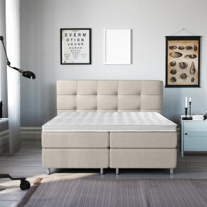 Complete Luxe Boxspring - Lugano - Dreamhouse - 160x200 - Beige - Twee persoons - Bed