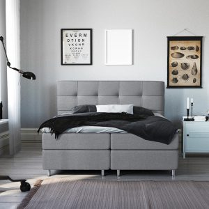 Complete Luxe Boxspring - Lugano - Dreamhouse - 160x200 - Grijs - Twee persoons - Bed